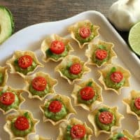 Gluten free Appetizer Chips and Guacamole Bites