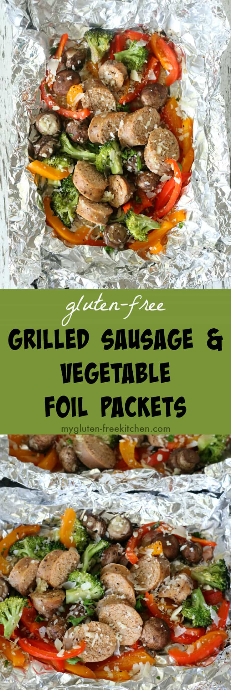 Gluten-free Grilled Sausage and Vegetable Foil Packets recipe