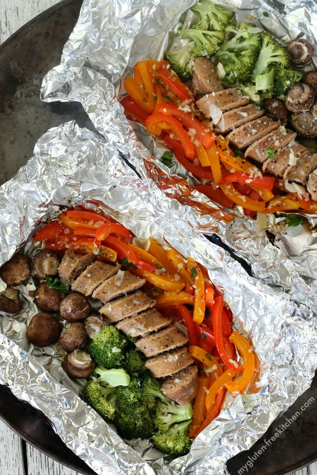 Gluten-free Sausage Foil Packet Dinners