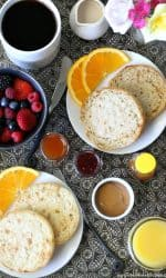 Gluten-free English Muffins from Udis for breakfast