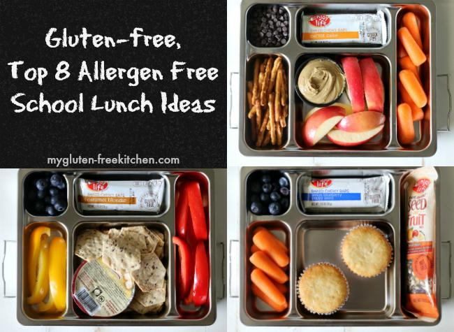 Gluten-free Top 8 Allergen Free School Lunch Ideas. No sandwiches!