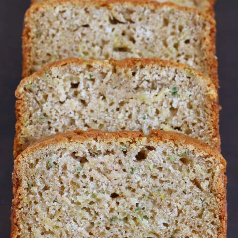 Gluten-free Zucchini Spice Bread - Recipe makes two loaves so you can freeze one or gift it!