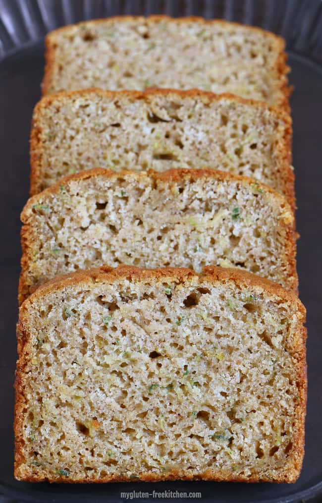 Gluten-free Zucchini Spice Bread - Yummy quick bread recipe for using up the zucchini from your garden (or your neighbor's!)