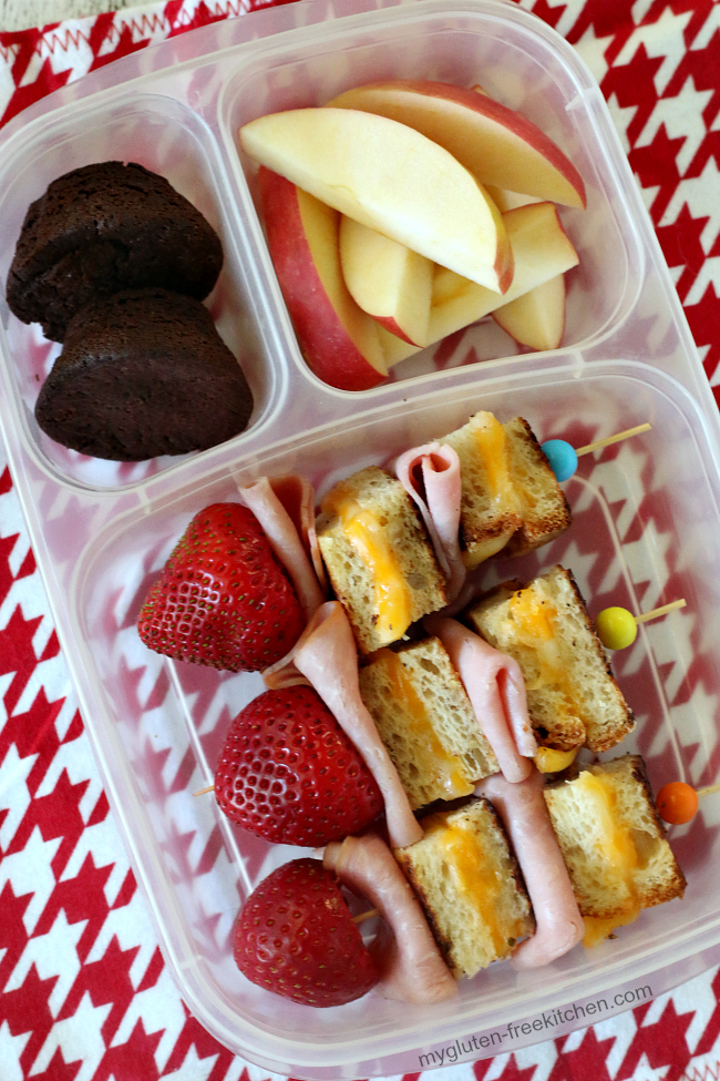 Gluten-free Grilled Cheese and Ham Kabobs