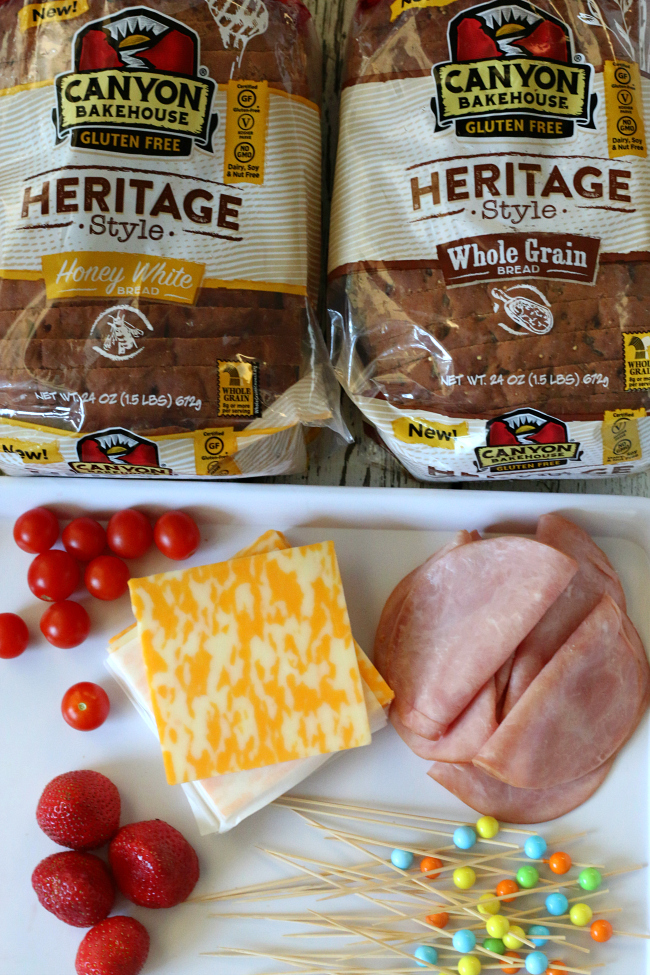 Ingredients for Gluten-free Grilled Cheese Kabobs