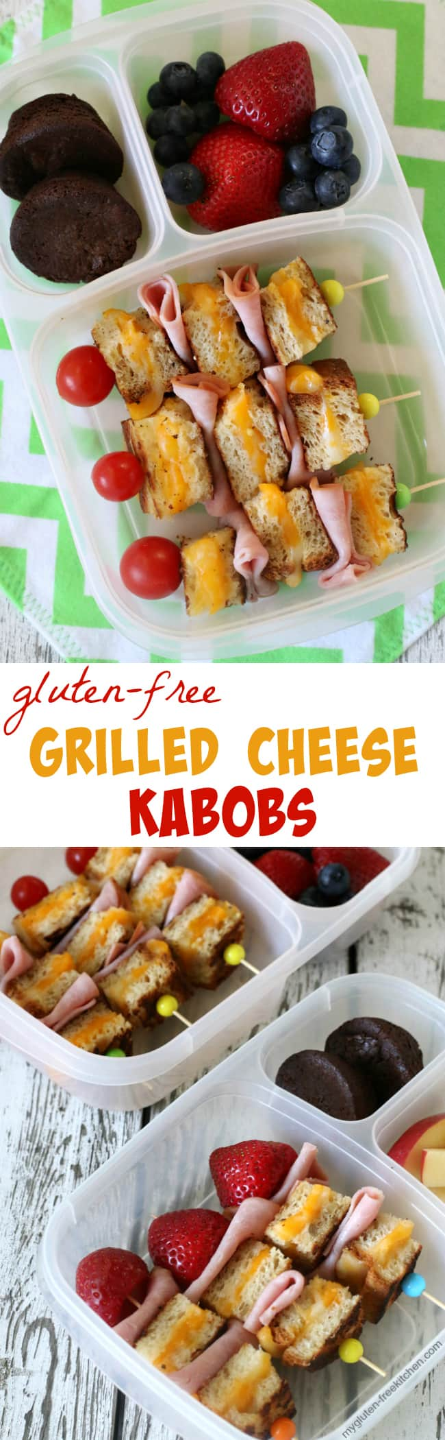 Gluten-free Grilled Cheese Kabobs for school lunches. My tween and teen loved these!