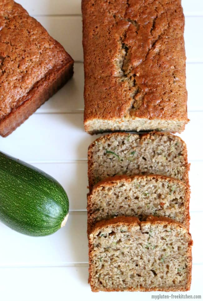 Gluten-free Zucchini Spice Bread Loaves - Recipe makes two loaves so you can freeze one or gift it!