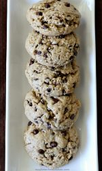 Gluten-free Peanut Butter Oatmeal Chocolate Chip Cookie Recipe. It's a low FODMAP diet friendly cookie too!