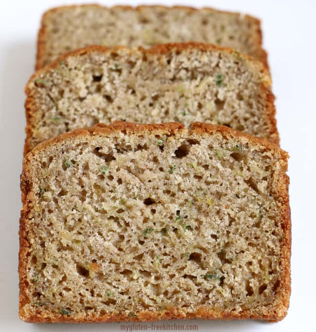 Sliced Gluten-free Zucchini Spice Bread Recipe