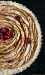 Gluten-free Apple Pear Tart Recipe. With added cranberries, this is a delicious fall dessert. #glutenfreerecipe