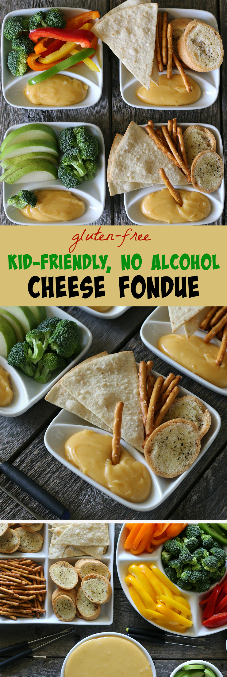 Gluten-free Kid-Friendly, No Alcohol Cheese Fondue