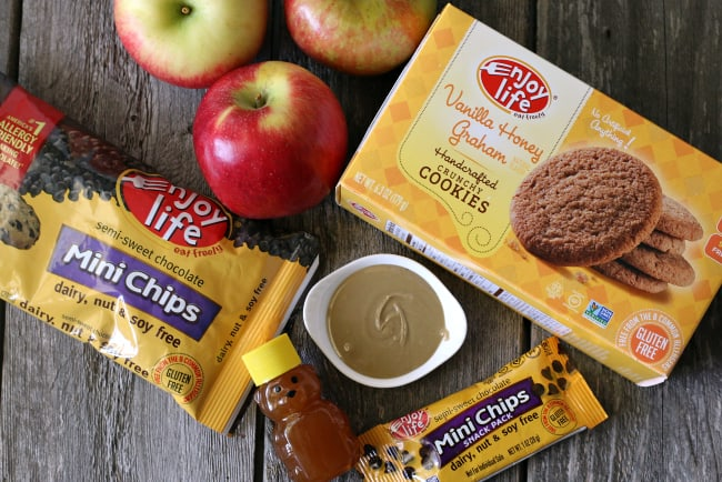 Ingredients for gluten-free apple nachos allergy friendly