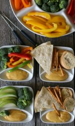 Kid-friendly Gluten-free Cheese Fondue. Variety of gluten-free dippers that kids love!