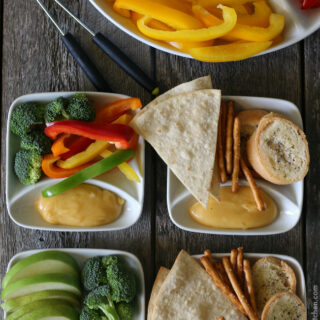 Gluten-free Cheese Fondue (non-alcoholic)