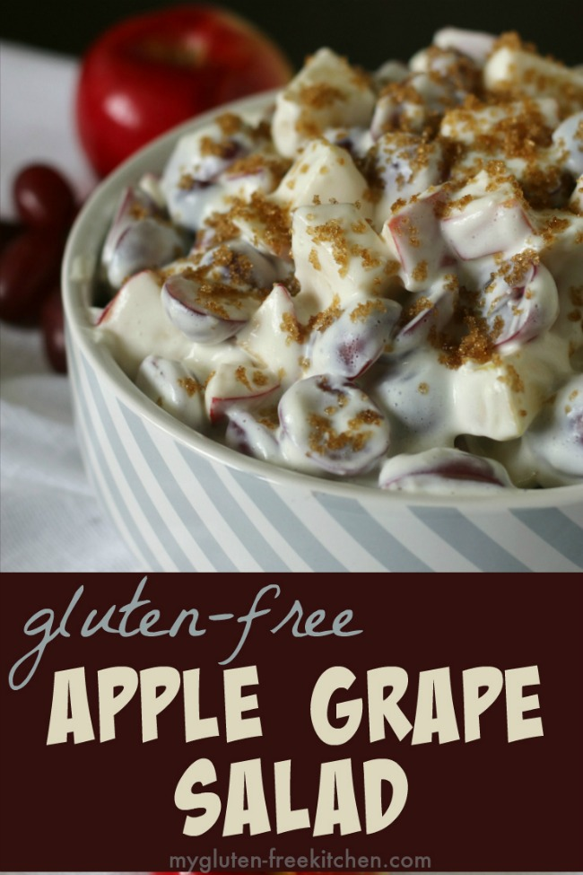 Apple Grape Salad naturally gluten-free recipe.