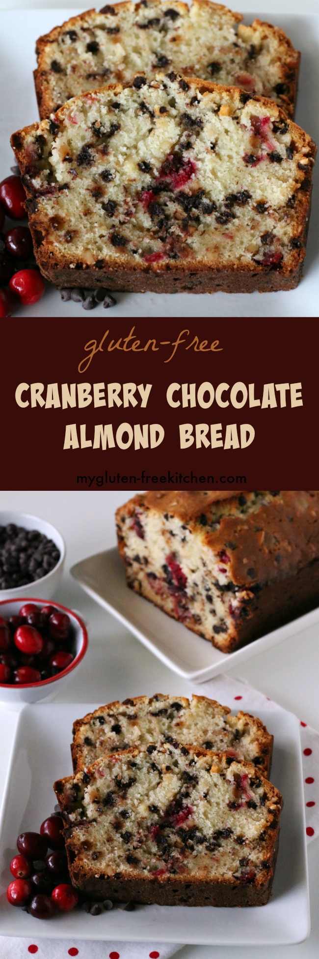 Gluten-free Cranberry Chocolate Almond Bread recipe