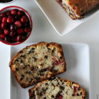 Gluten-free Cranberry Chocolate Quick Bread
