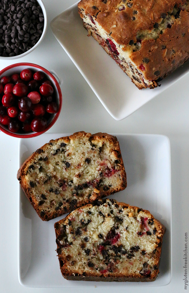 Gluten-free Cranberry Chocolate Bread