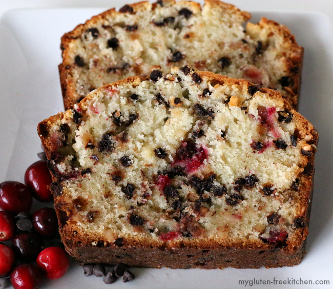 Gluten-free Cranberry Chocolate Quick Bread recipe
