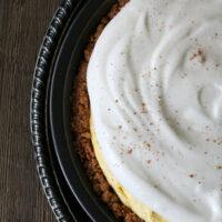 Gluten-free Eggnog Pie