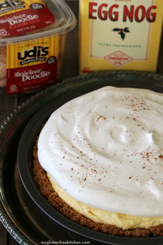Gluten-free Eggnog Pie with Udi's Snicker Doodle Crust