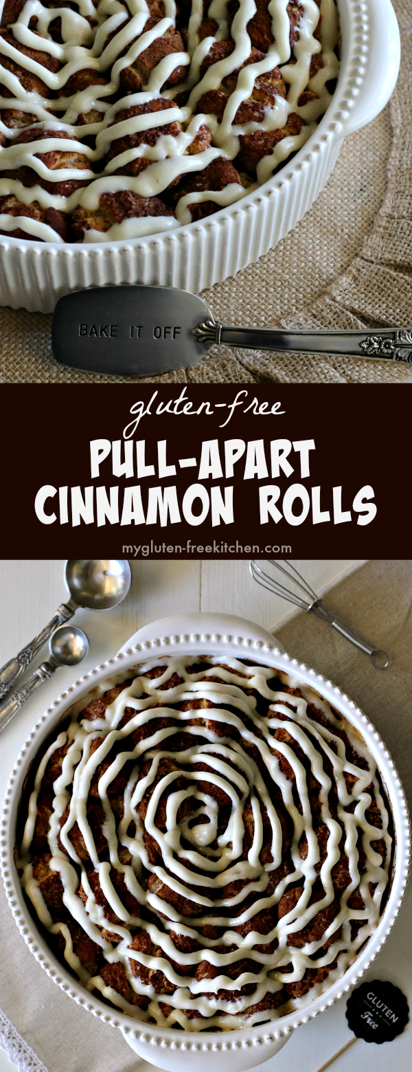 Gluten-free Pull-Apart Cinnamon Rolls Recipe. Delicious for gluten-free brunch!
