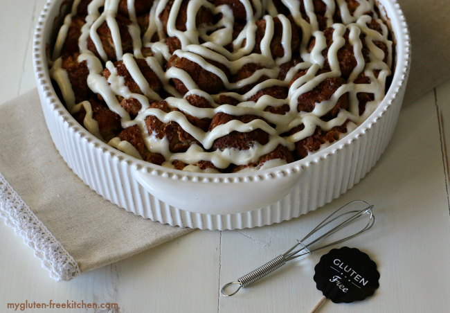 Gluten-free Pull-Apart Cinnamon Rolls recipe for holiday brunch