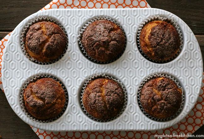 Gluten-free Snickerdoodle Pumpkin Muffins recipe