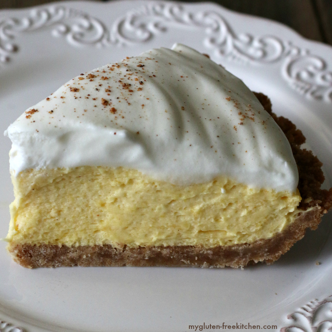 Slice of Gluten-free Eggnog Pie