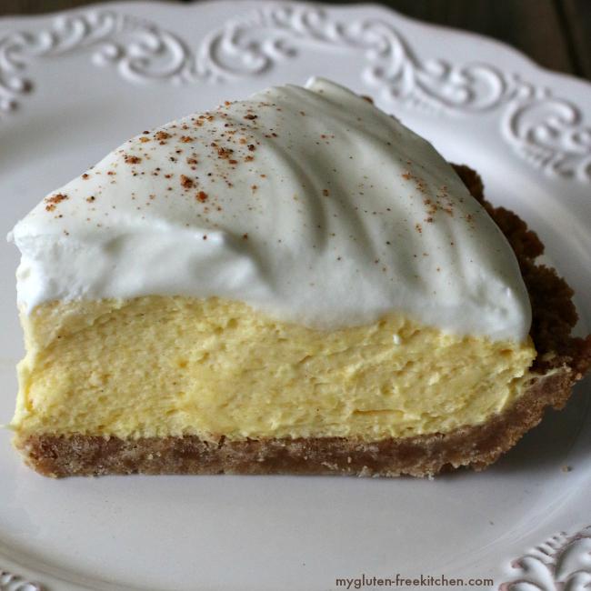Slice of Gluten-free Eggnog Pie