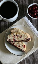 Chocolate Dipped Gluten-free Almond Cranberry Biscotti