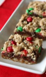 Gluten-free Peanut Butter Christmas Dream Bars