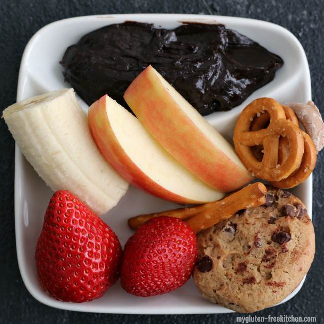 Kid-friendly Gluten-free Chocolate Peanut Butter Fondue