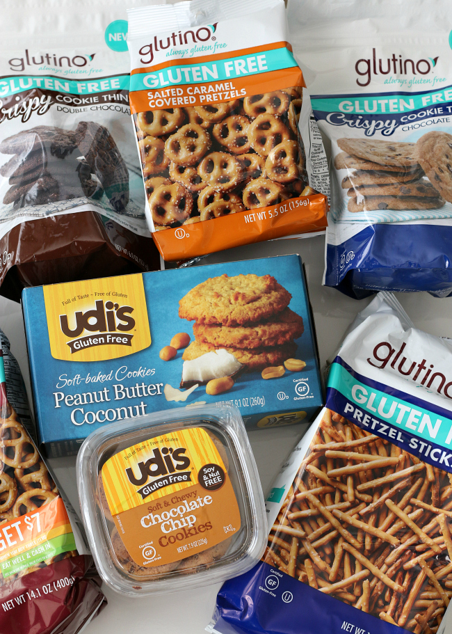 Udi's and Glutino gluten-free dippers for fondue