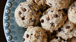 Gluten-free Banana Oatmeal Chocolate Chip Cookies. Recipe includes tips for making these free of top 8 allergens plus more if needed!