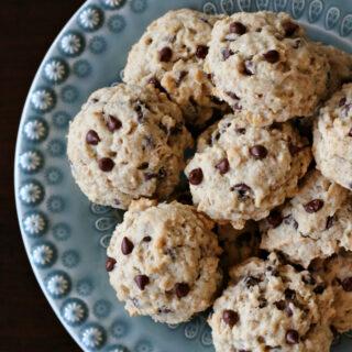 Gluten-free Banana Oatmeal Chocolate Chip Cookies