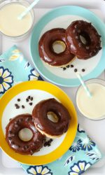 Gluten-free Chocolate Frosted Donut Recipe. Easy, delicious recipe that will satisfy those doughnut cravings! Dairy-free too!