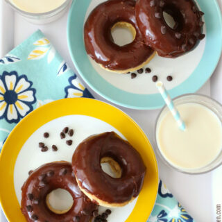 Gluten-free Chocolate Frosted Donuts {Dairy-free}
