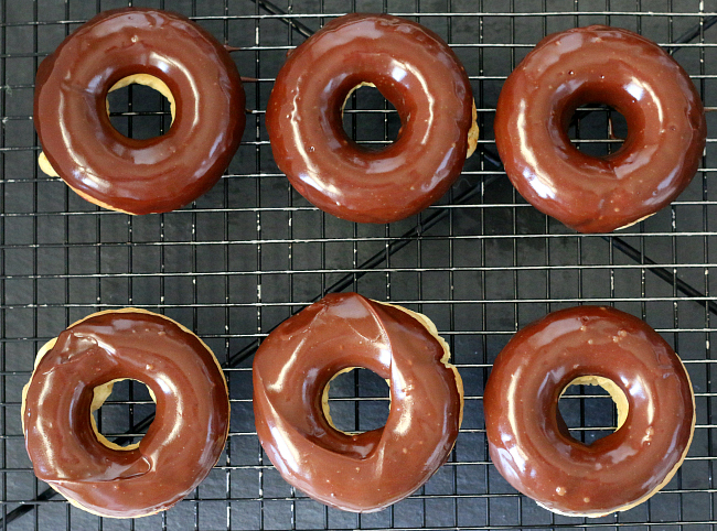 Gluten-free Chocolate Frosted Plain Donuts