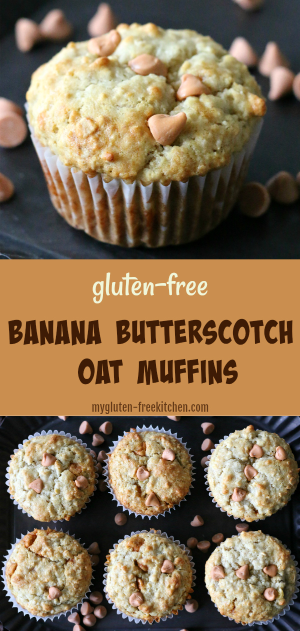 Gluten-free Banana Butterscotch Oat Muffins Recipe