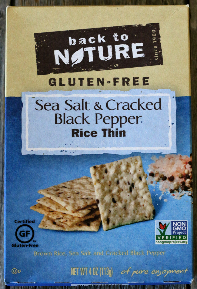 Back to Nature gluten-free crackers