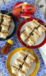 Gluten-free Peanut Butter Honey and Banana Sandwich Kabobs. Easy gluten-free, dairy-free lunch recipe.