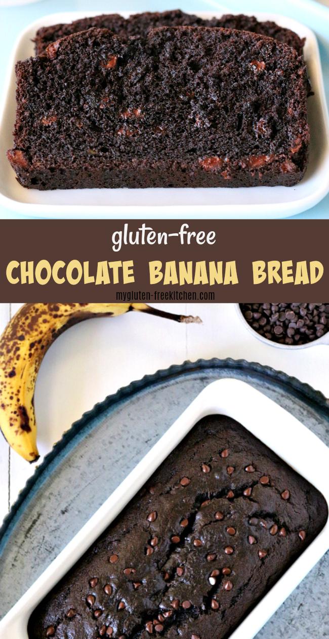 Gluten-free Chocolate Banana Bread Recipe. Easy gluten-free quick bread recipe that's perfect for using up ripe bananas!
