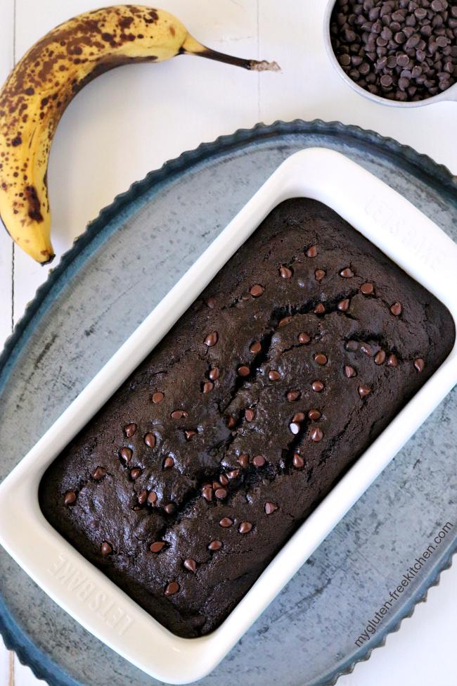 Gluten-free Chocolate Banana Bread
