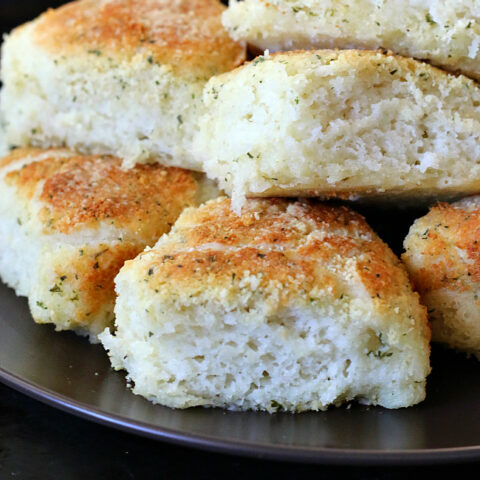 Gluten-free Garlic Parmesan Dinner Rolls Recipe. We love these rolls!