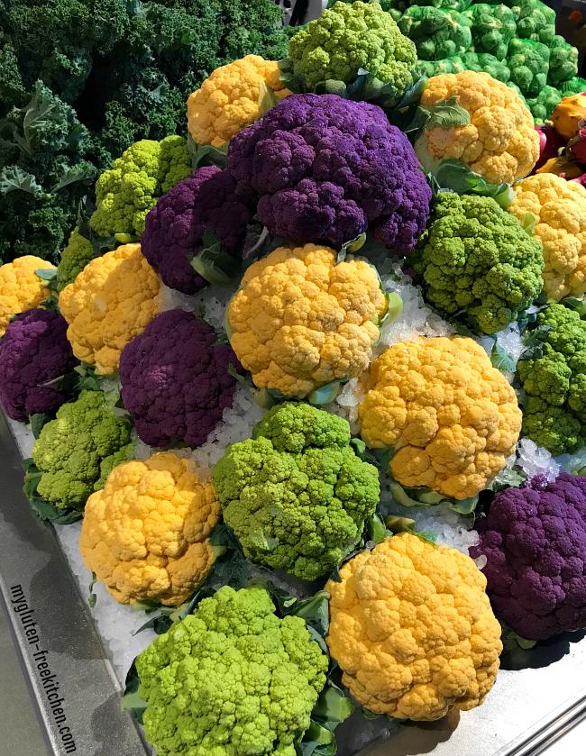Colorful Cauliflower at Albertsons