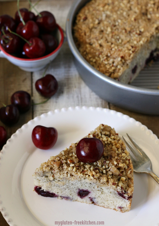 Gluten free Cherry Almond Coffee Cake Recipe