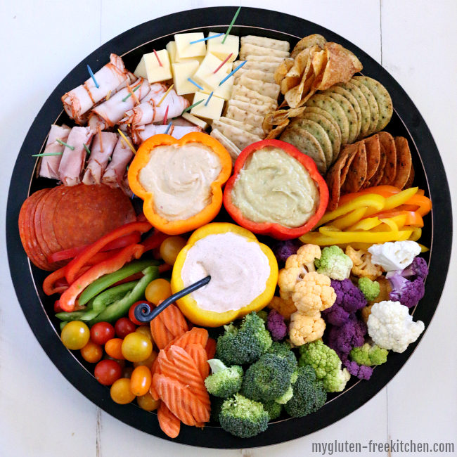 Gluten-free Meat, Cheese, and Vegetable Tray