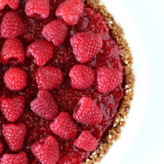 Gluten-free No Bake Raspberry Cream Pie