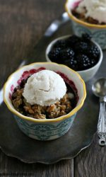 Gluten-free Blackberry Crisp for two